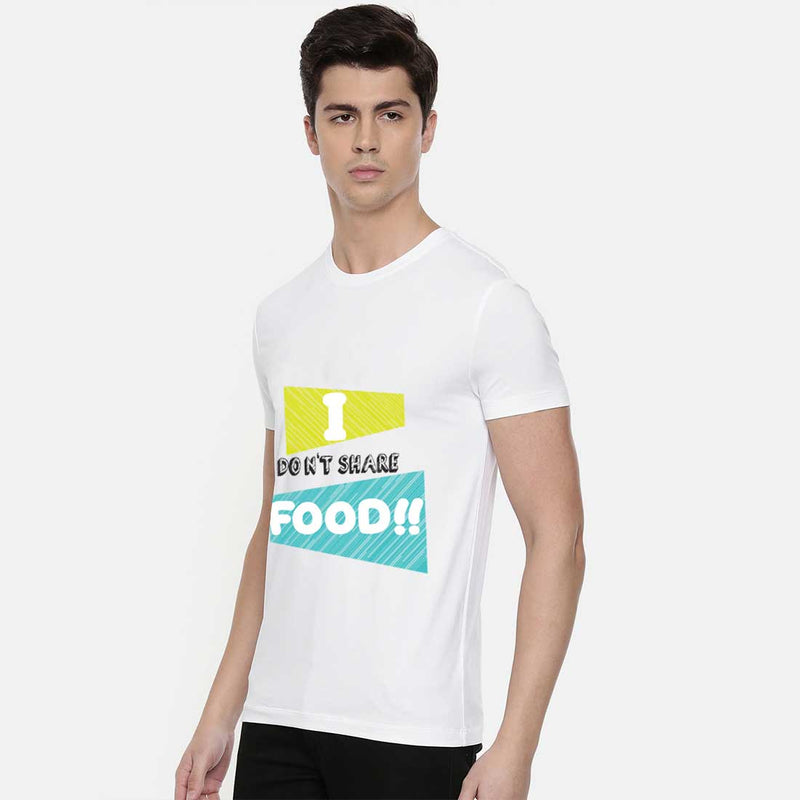 I Don't Share Food White Men T-Shirt