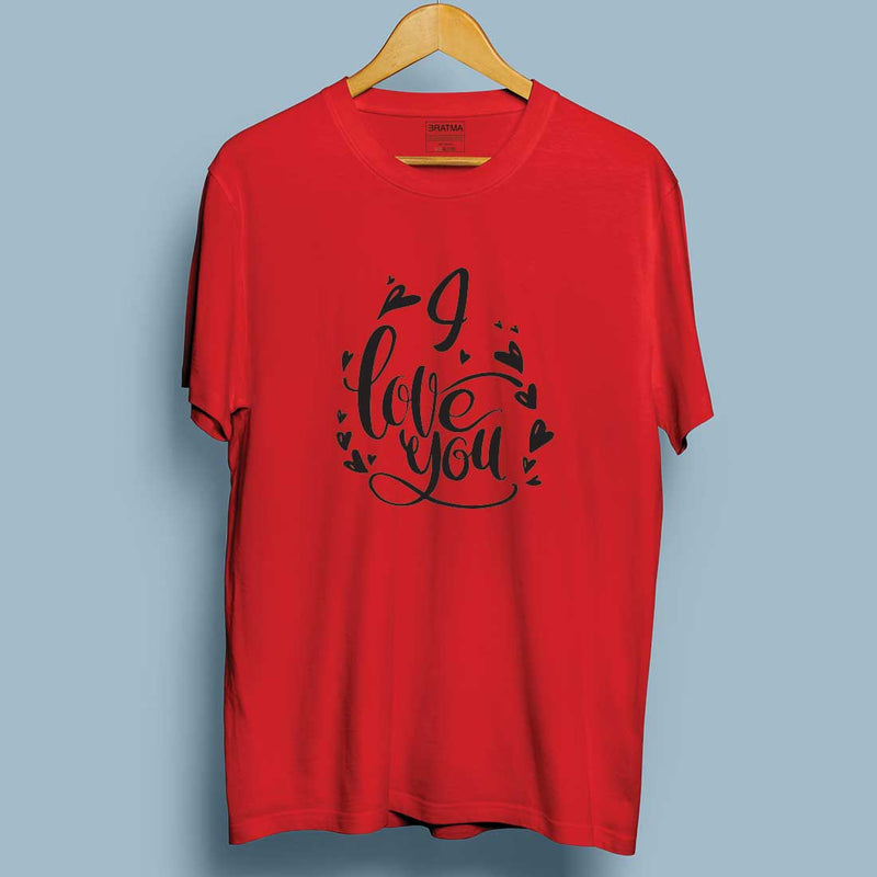 I Love You Red Couple Tees
