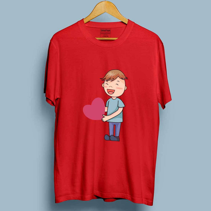 Love Propose Red Men T-Shirt