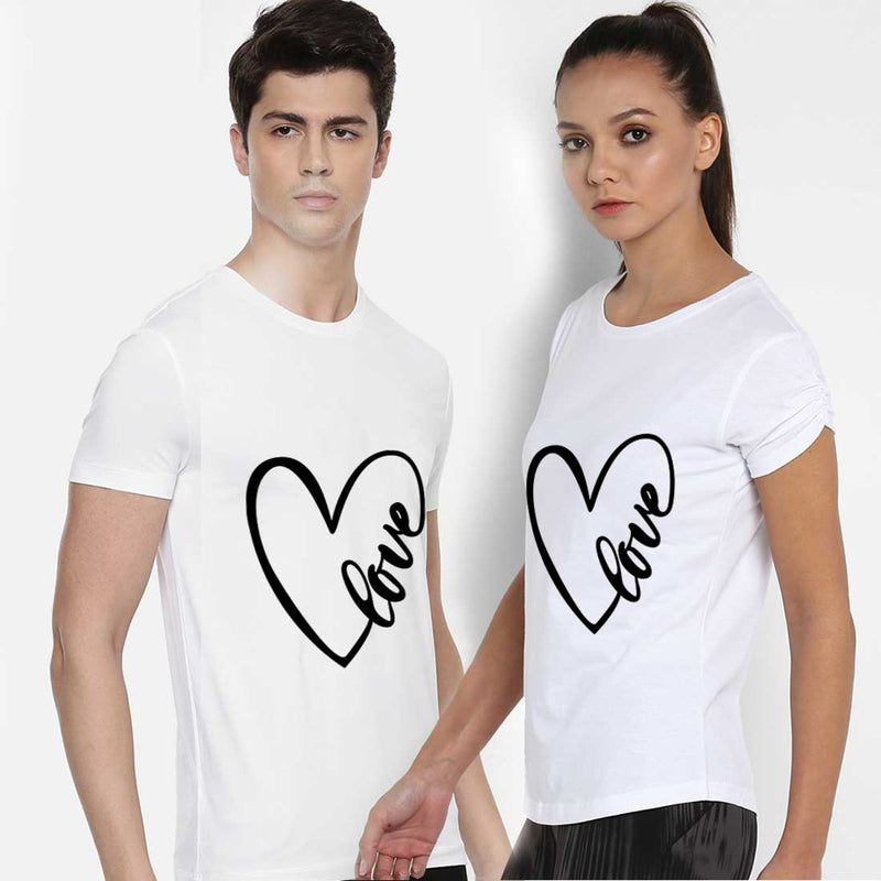 Love White Couple Tees