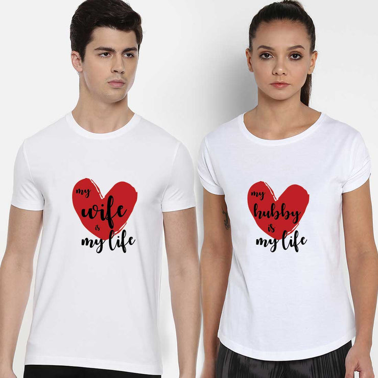 My Wife Is My Love My Hubby Is My Love White Couple Tees