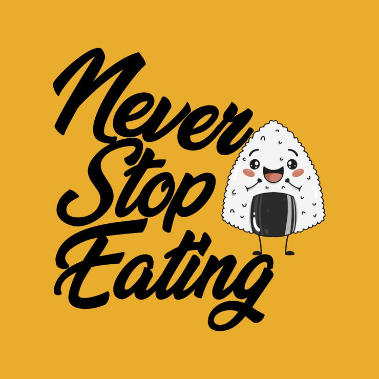 Never Stop Eating Mustrad Men T-Shirt