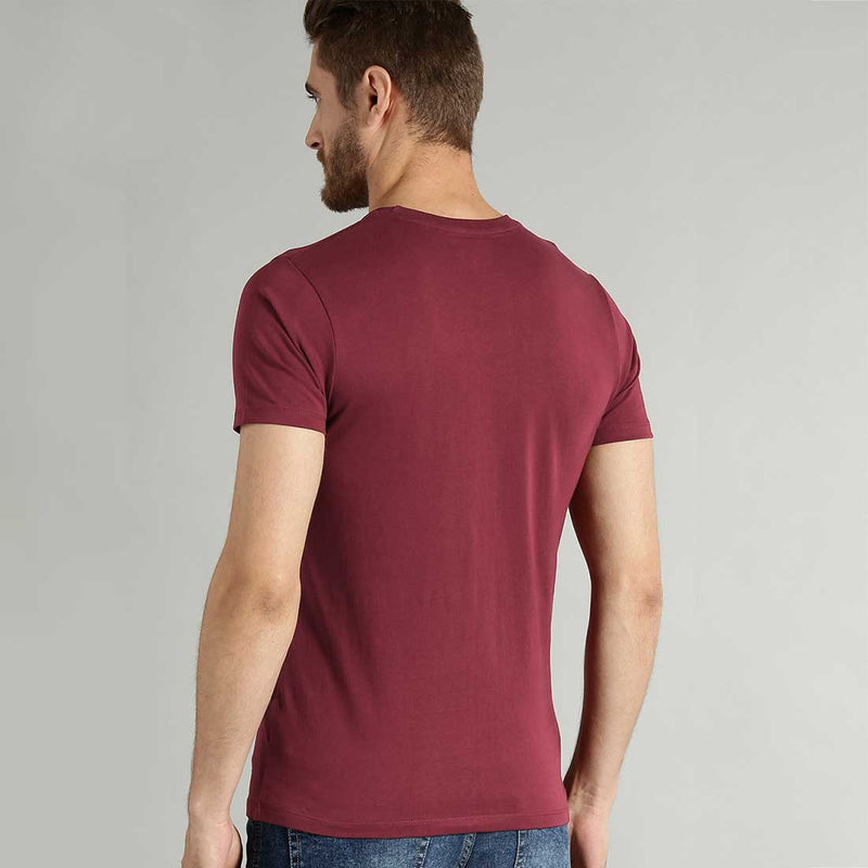 November Is Here Maroon Men T-Shirt