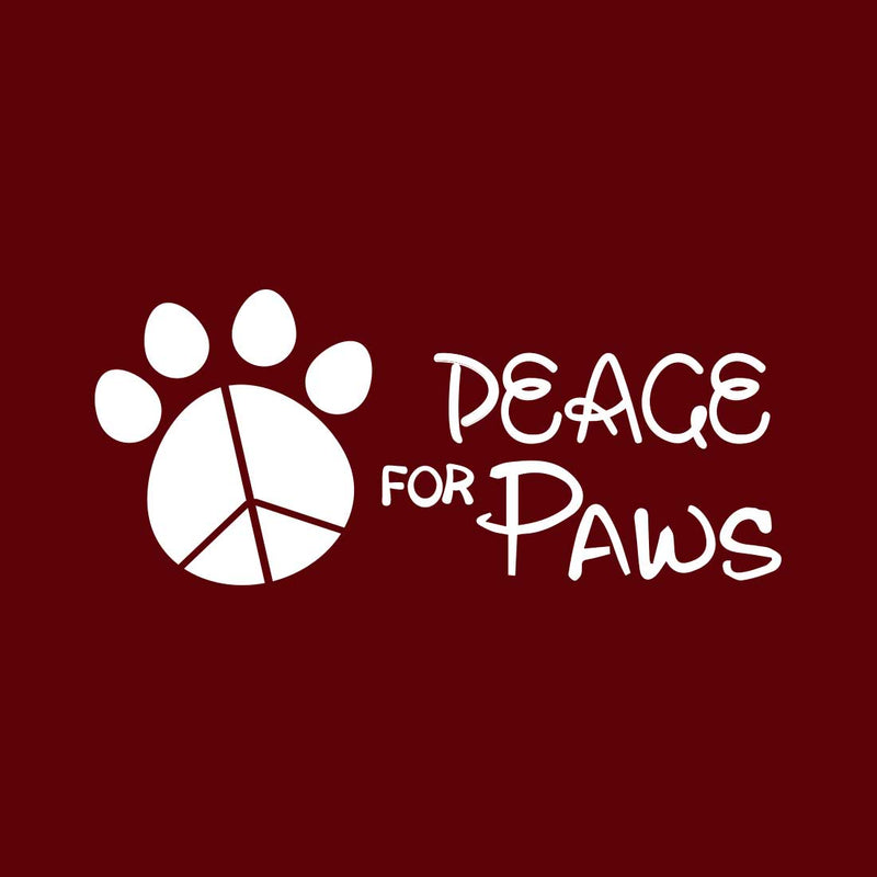 Peace For Paws Maroon Women T-Shirt