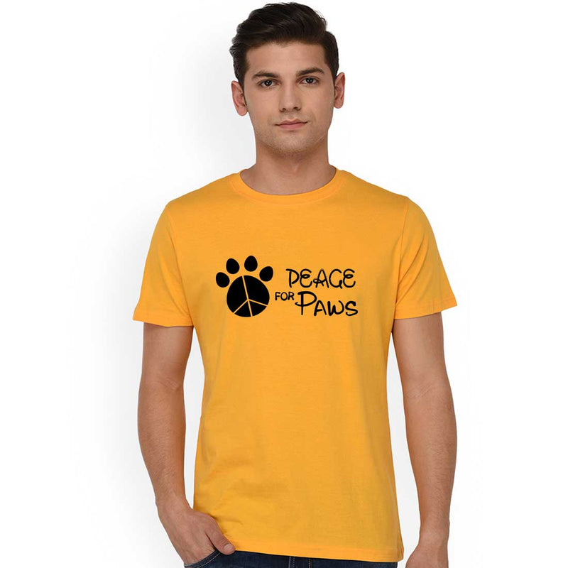 Peace Of Paws Mustrad Men T-Shirt