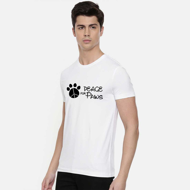 Peace Of Paws White Men T-Shirt