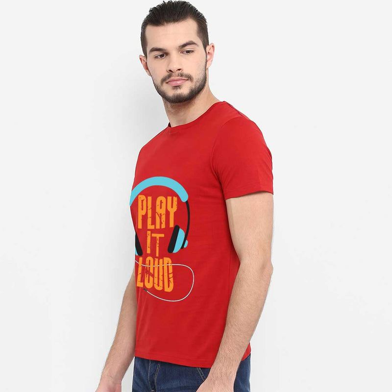 Play It loud Red Men T-Shirt