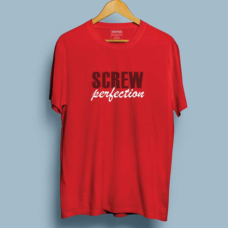 Screw Perfection Red Men T-Shirt