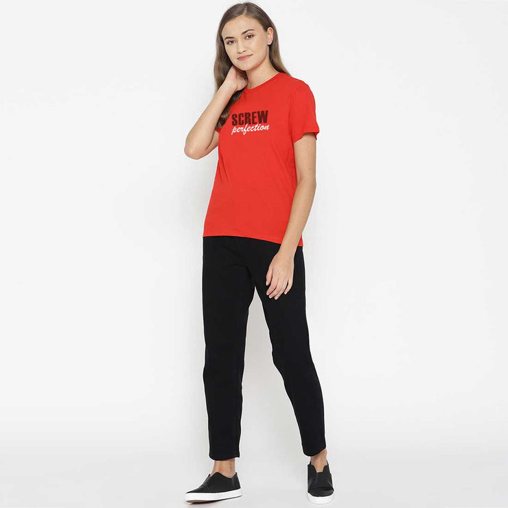 Screw Perfection Red Women T-Shirt