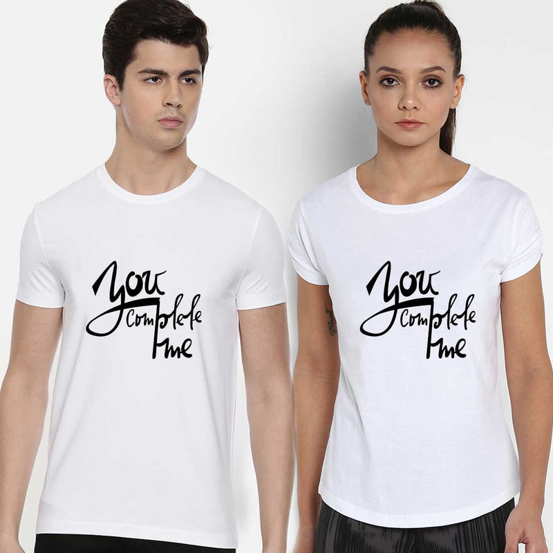 You Complete Me White Couple Tees