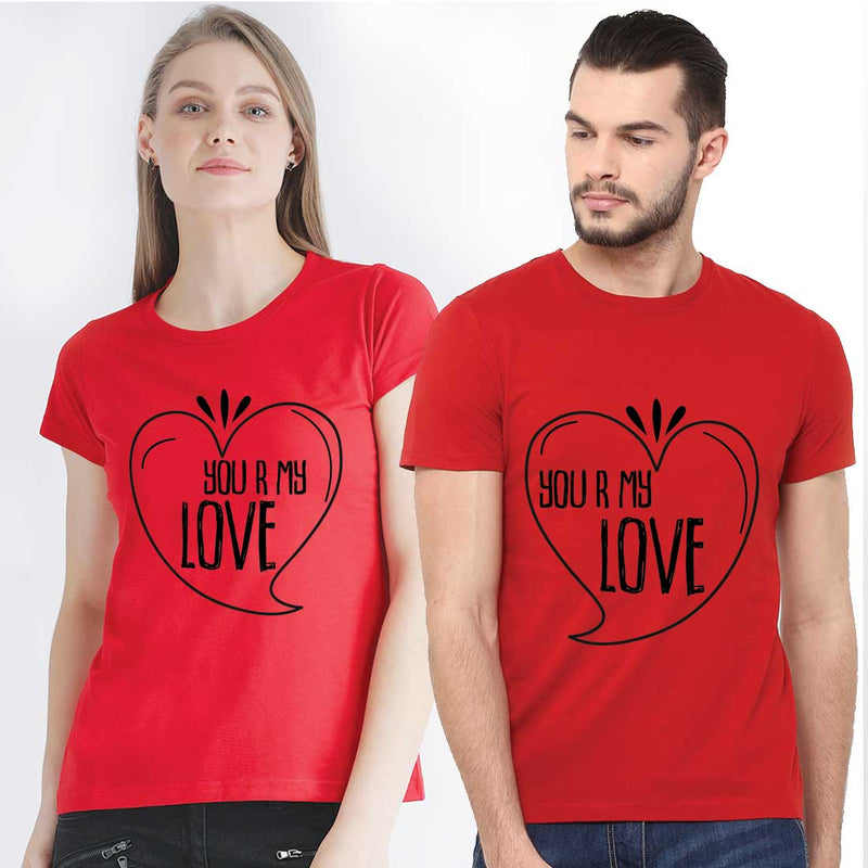 You Are My Love Red Couple Tees