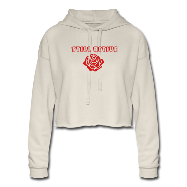 "Still Active ""Space Rose"" Cropped Hoodie - dust"