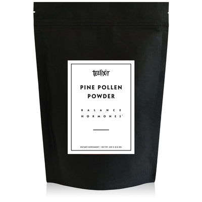 Teelixir Wild Raw Pine Pollen Superfood Powder - Increase Energy, Balance Hormones All Natural Androgens source, Nourish Skin and Beauty Health Improve libido sex drive vegan paleo gluten free keto 250 g 500 grams bulk