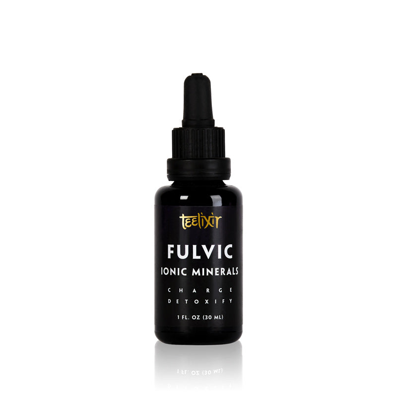 Teelixir wholesale organic Fulvic Acid Ionic trace Minerals liquid Supplement blend buy online Australia all natural humic acid electrolytes amino acids superfood 30 ml recharge detoxify energy increase detoxification heavy metal chelator