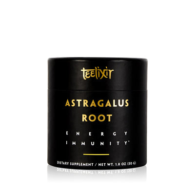 Teelixir Organic Wild Astragalus Root Tonic Herb Adaptogen 10:1 Dual Extract Powder Immediate Instant Energy Natural boost Lungs and Immunity Support