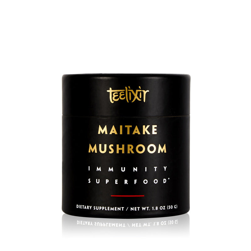 Teelixir Australian Certified Organic Maitake Mushroom Grifola frondosa 10:1 Dual Extract powder - Enhance Boost your immunity reduces stress levels vegan gluten free paleo non GMO