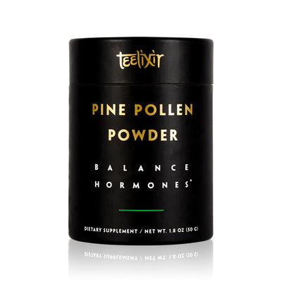 Teelixir Wild Raw Pine Pollen Superfood Powder - Increase Energy, Balance Hormones All Natural Androgens source, Nourish Skin and Beauty Health Improve libido sex drive vegan paleo gluten free keto