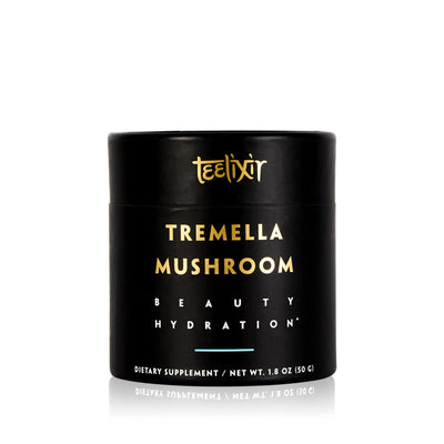 Teelixir Tremella fuciformis superfood medicinal Mushroom 10:1 Extract Powder - tonic herb adaptogen Nature's Beauty Secret for healthy natural glow dewy youthful beautiful looking skin health antioxidant boost vegan collagen hyaluronic acid alternative substitute face mask