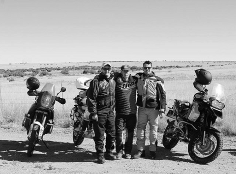 Jacques pictured far right on his excursion around Northern Cape, 2017.