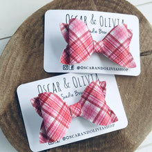 Load image into Gallery viewer, Sadie Bow - Pink Plaid