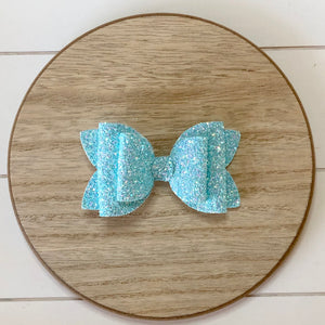 Double Bella Bow - Micro Glitters