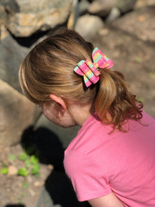 Double Bella Bow - Fruity Striped
