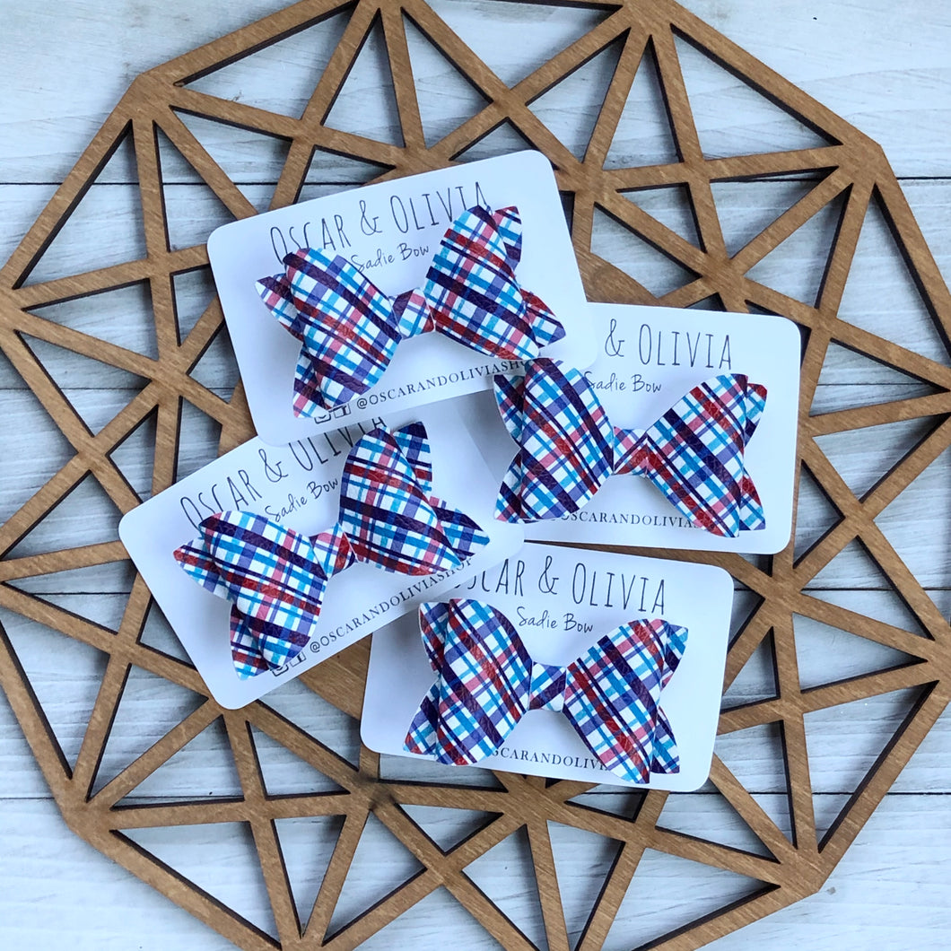 Sadie Bow - Fourth of July Plaid