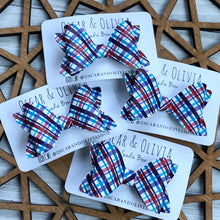 Load image into Gallery viewer, Sadie Bow - Fourth of July Plaid