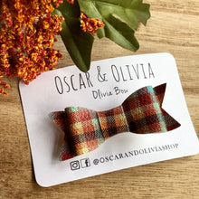Load image into Gallery viewer, Olivia Bow - Fall Plaid