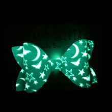 Load image into Gallery viewer, Glow Bow - Sadie Halloween Night
