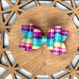 Pool Bow (Double Bella Bow) - Bright Stripes