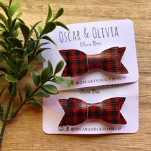 Load image into Gallery viewer, Olivia Bow - Buffalo Plaid