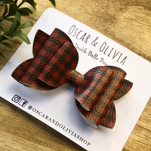 Double Bella Bow - Buffalo Plaid