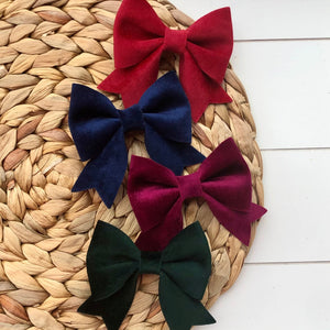 Everly Bow - Holiday Velvets