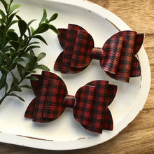 Load image into Gallery viewer, Double Bella Bow - Buffalo Plaid