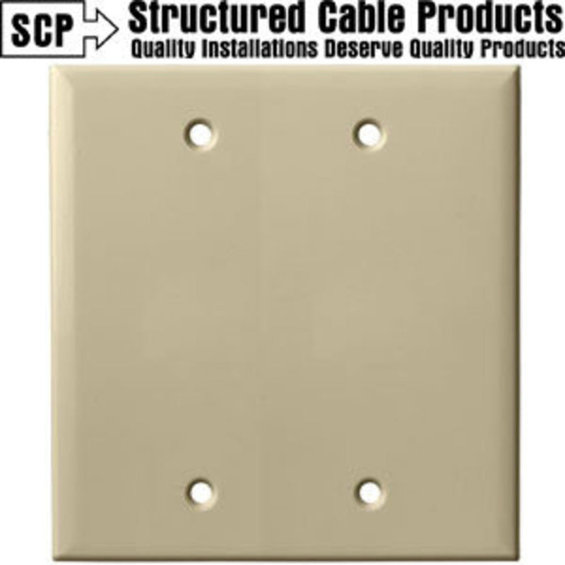 SCP 249-IV 2Gang Ivory Blank Wall Plate