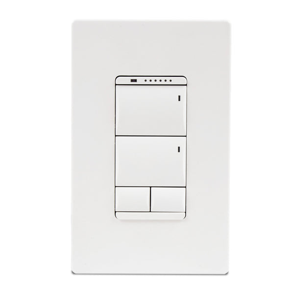 Savant WPB-SWA106-00 Echo Wireless Configurable Keypad - Adaptive Dimmer (Snow White)