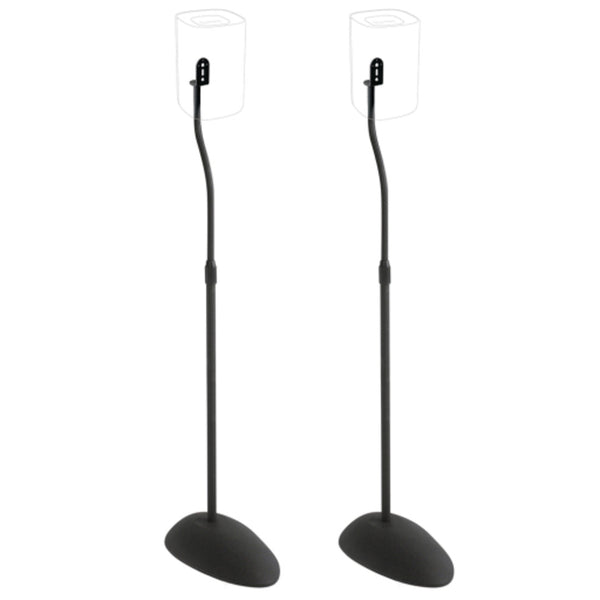 SANUS HTB3-B3 Adjustable Height Speaker Stands