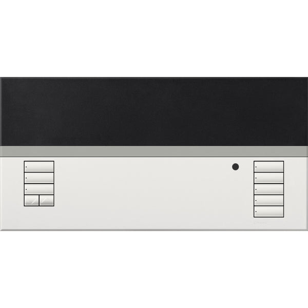 Lutron QSGFP1TWH Faceplate Grafic Eye Dropdown in White