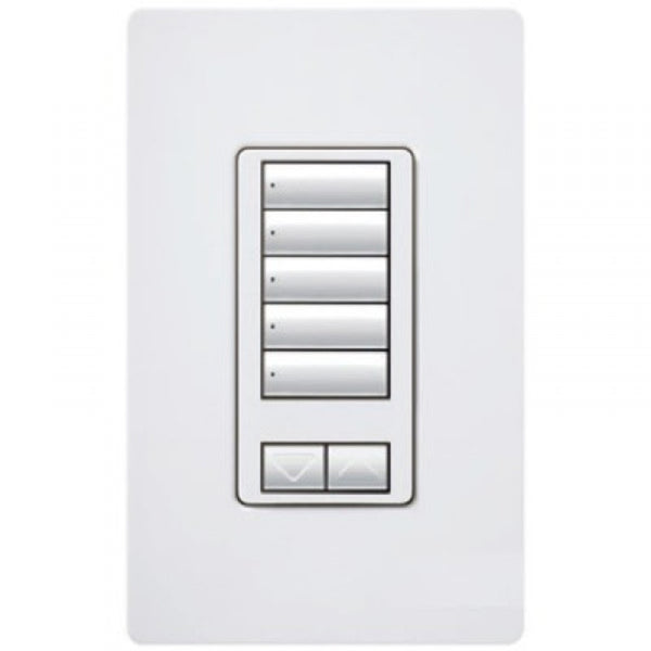 Lutron HQRD-W5BIR-WH HW RF 5-Button With R/L And Ir