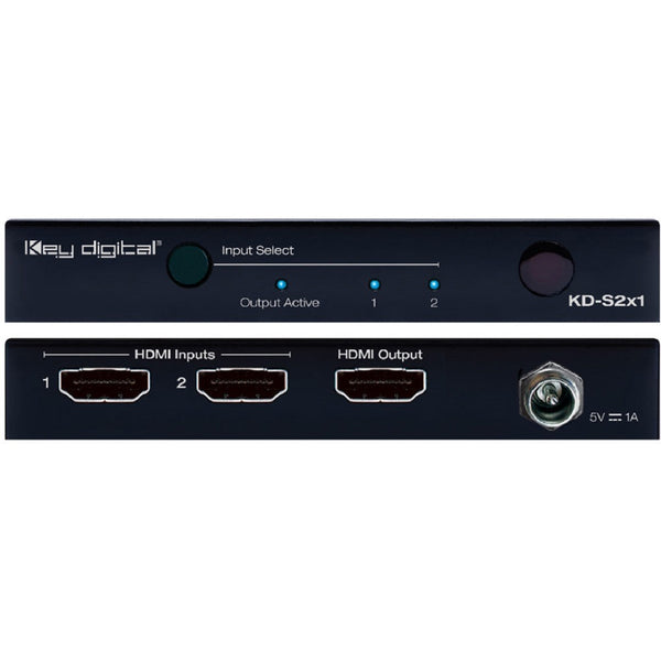Key Digital KD-S2x1 2x1 4K/18G HDMI Switcher (NOTE: LIMITED SUPPLY)