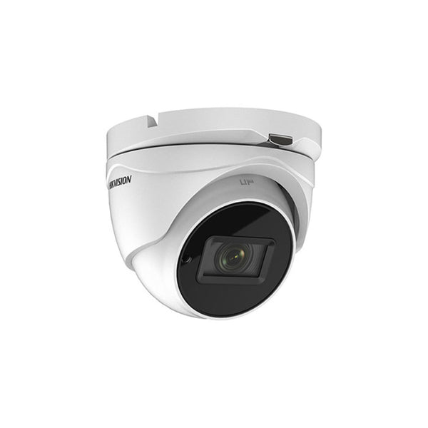 Hikvision DS-2CE56H0T-IT3ZF Outdoor IR Turret TurboHD 4.0 HD-TVI/Ahd/Hd-Cvi/Cvbs 5MP 2.7-13.5MM Motorized Zoom/Focus 40M Exir 2.0 Day/Night Dwdr Smart IR IP67  12 VDC
