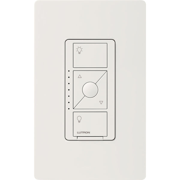 Lutron PD5NEWHC Caséta Phase Selectable Dimmer in White