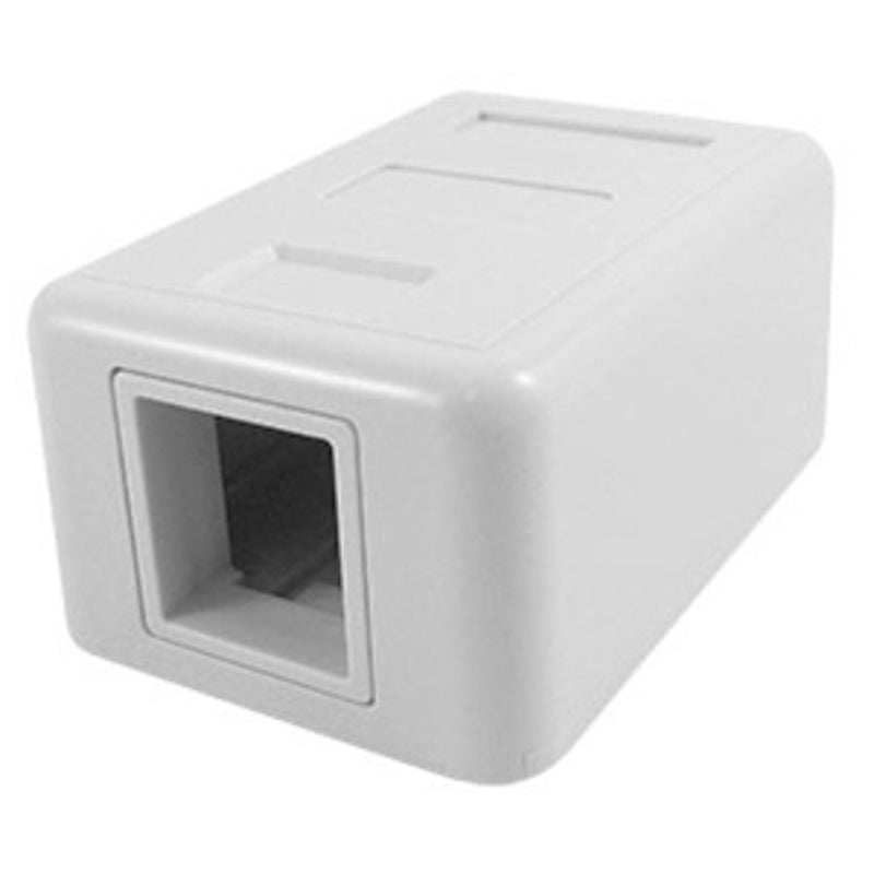 SCP 212-WT 1Port White Surface Mount Box