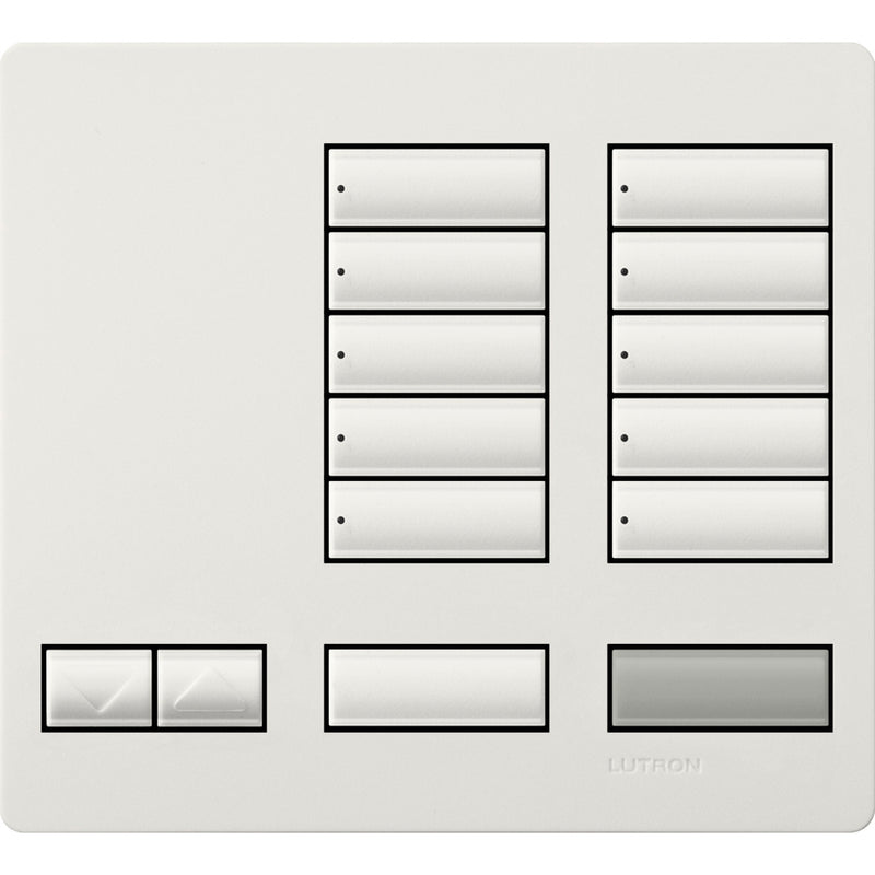 Lutron LFKT10RLSW HW Large 10 Button Faceplate Kit