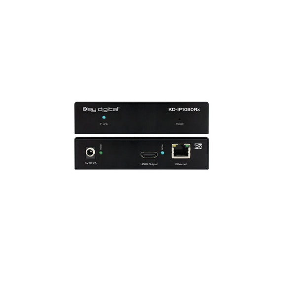 Key Digital KD-IP1080RX HDMI over IP with POE (Rx) Receiver with Redundant Power Connection