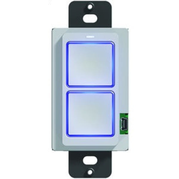 RTI RK1+2B 2Button Lighted In-Wall Keypad