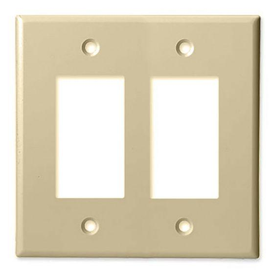ProConnect PC2002DG Double Gang Decorator Style Wall Plate (FINAL SALE)