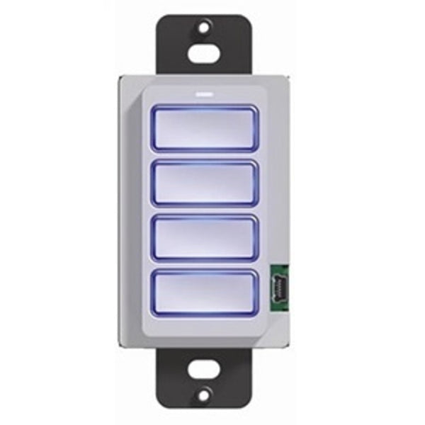RTI RK1+4B 4Button Lighted In-Wall Keypad