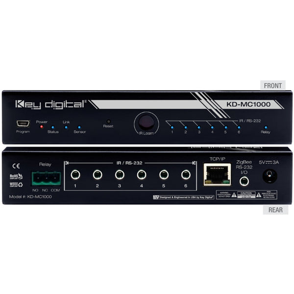 Key Digital KD-MC1000 Master Controller (Wired/LAN, Supports up to 8 Ports)